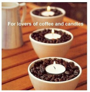 Air Freshner from strong coffee beans and a tea candle